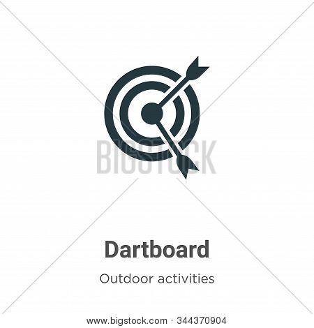 Dartboard icon isolated on white background from outdoor activities collection. Dartboard icon trend