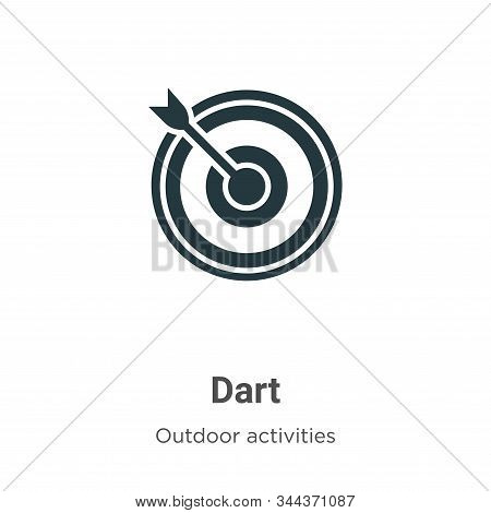 Dart icon isolated on white background from outdoor activities collection. Dart icon trendy and mode