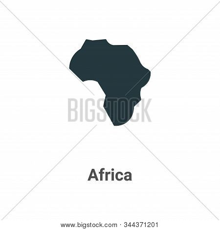 Africa Vector Icon On White Background. Flat Vector Africa Icon Symbol Sign From Modern Africa Colle