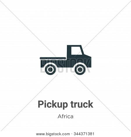 Pickup truck icon isolated on white background from africa collection. Pickup truck icon trendy and
