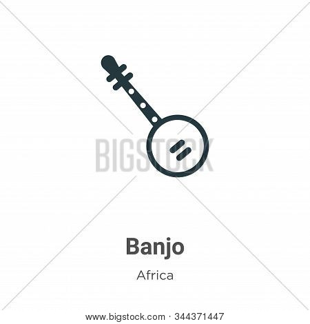 Banjo icon isolated on white background from africa collection. Banjo icon trendy and modern Banjo s