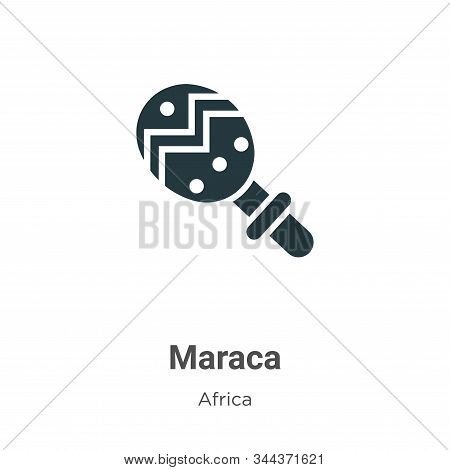 Maraca icon isolated on white background from africa collection. Maraca icon trendy and modern Marac