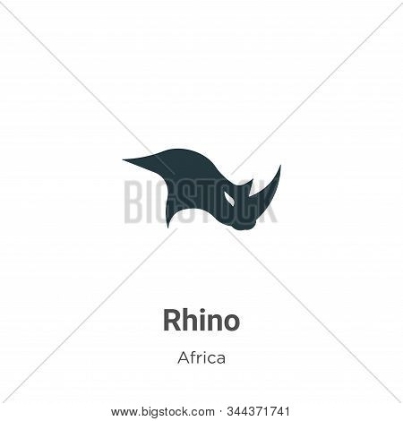 Rhino icon isolated on white background from africa collection. Rhino icon trendy and modern Rhino s