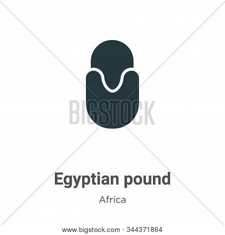 Egyptian pound icon isolated on white background from africa collection. Egyptian pound icon trendy