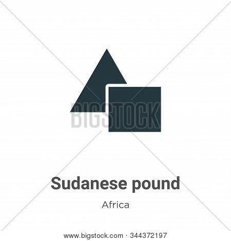 Sudanese pound icon isolated on white background from africa collection. Sudanese pound icon trendy