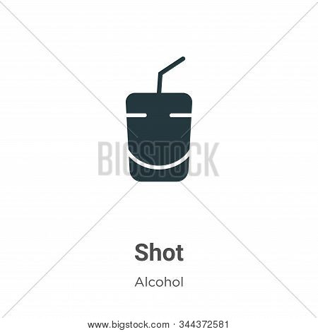 Shot icon isolated on white background from alcohol collection. Shot icon trendy and modern Shot sym