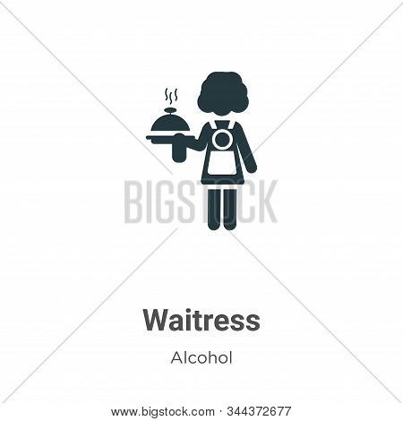 Waitress icon isolated on white background from alcohol collection. Waitress icon trendy and modern