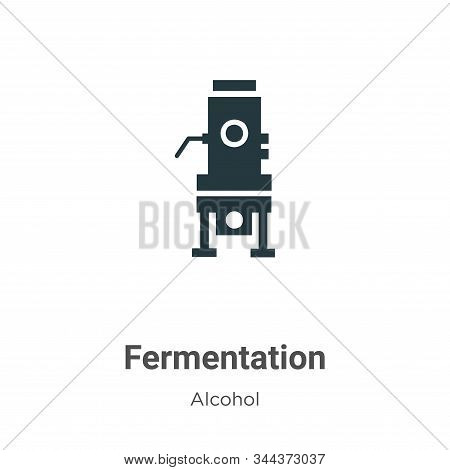 Fermentation icon isolated on white background from alcohol collection. Fermentation icon trendy and