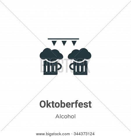 Oktoberfest icon isolated on white background from alcohol collection. Oktoberfest icon trendy and m