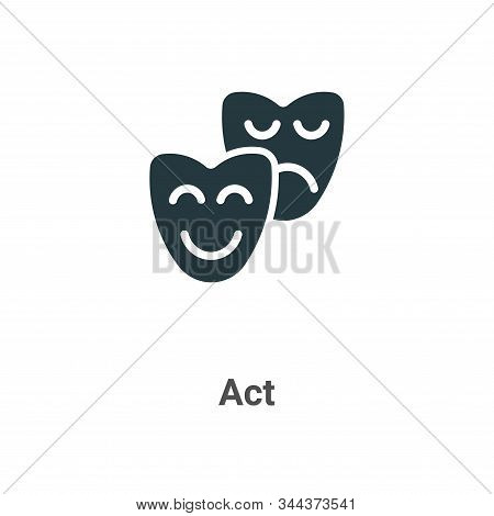 Act icon isolated on white background from art collection. Act icon trendy and modern Act symbol for