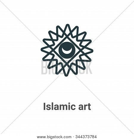 Islamic art icon isolated on white background from art collection. Islamic art icon trendy and moder