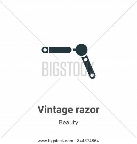 Vintage razor icon isolated on white background from beauty collection. Vintage razor icon trendy an
