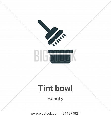 Tint bowl icon isolated on white background from beauty collection. Tint bowl icon trendy and modern