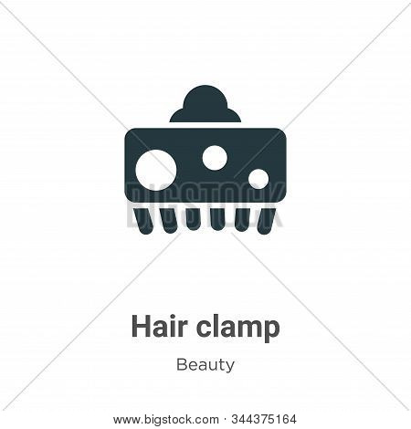 Hair clamp icon isolated on white background from beauty collection. Hair clamp icon trendy and mode