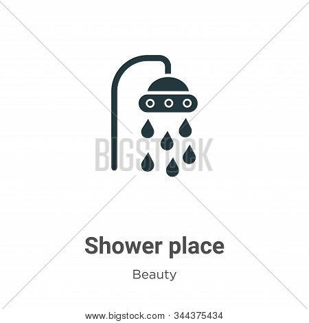 Shower place icon isolated on white background from beauty collection. Shower place icon trendy and
