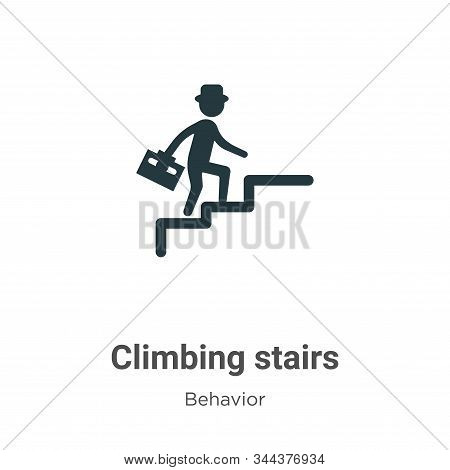 Climbing stairs icon isolated on white background from behavior collection. Climbing stairs icon tre