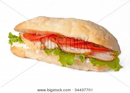 Sandwich With Meat And Tomato