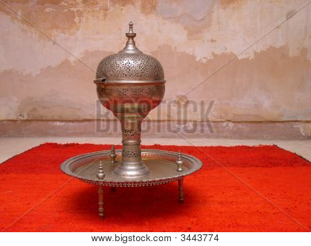 Moroccan Handcrafted Silver Tray