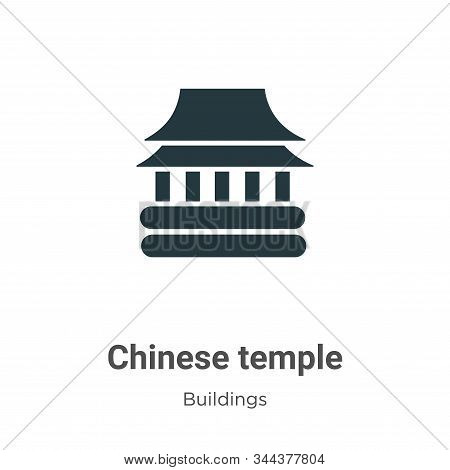 Chinese temple icon isolated on white background from buildings collection. Chinese temple icon tren