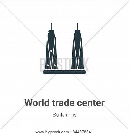 World Trade Center Vector Icon On White Background. Flat Vector World Trade Center Icon Symbol Sign
