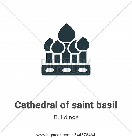 Cathedral of saint basil icon isolated on white background from buildings collection. Cathedral of s
