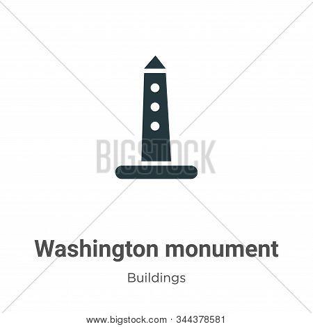 Washington monument icon isolated on white background from buildings collection. Washington monument