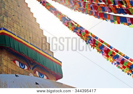 One Side Of Boudha Stupa