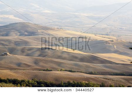 Panoramic Views Of The Tuscan Hills