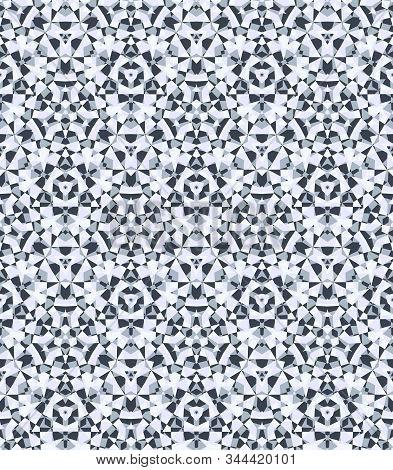 Abstract Diamond Background, Seamless Geometric Pattern, Elegant Crystal Texture, Repeating Kaleidos