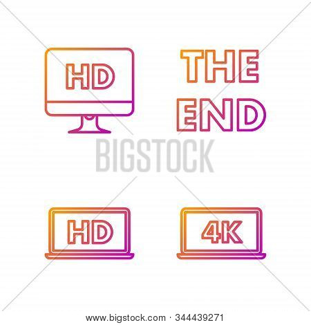 Set Line Laptop Screen With 4k Video Technology With Hd Video Technology , Computer Pc Monitor With