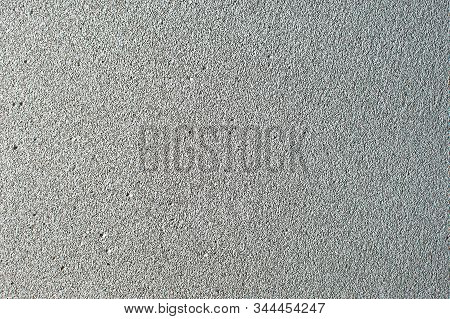 Foam Concrete Blocks Wall As A Background Grey. Lightweight Construction Brick Isolated On White. Li