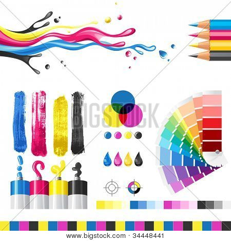 CMYK color mode design elements