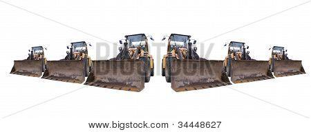 Excavators Isolated