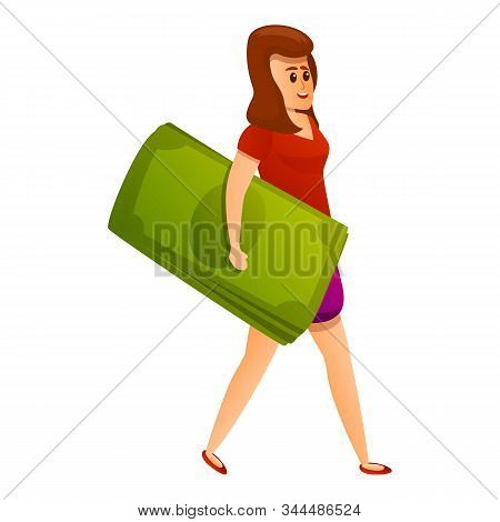 Woman Banker Millionaire Icon. Cartoon Of Woman Banker Millionaire Vector Icon For Web Design Isolat