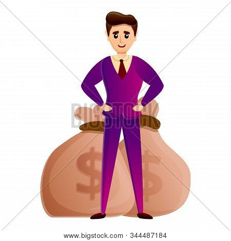 Young Millionaire Icon. Cartoon Of Young Millionaire Vector Icon For Web Design Isolated On White Ba