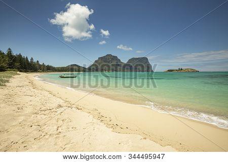 View Of Lord Howe Islands Turquoise Waters Near Lovers Beach, Lord Howe Island, Australia