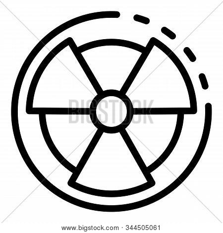 Radiation Sign Icon. Outline Radiation Sign Vector Icon For Web Design Isolated On White Background