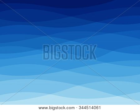 Abstract Blue Wave. Water Waves, Flowing Wavy Lines, Dynamic Sea Elements, Ocean Or River Wallpaper