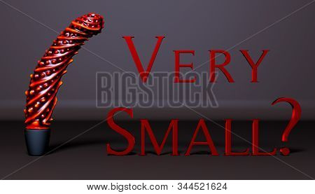 Silicon Vibrator (dildo) On Dark Background.red Text