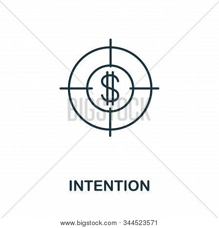 Intention Icon. Line Style Symbol From Productivity Icon Collection. Intention Creative Element For