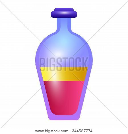 Yellow Pink Potion Icon. Cartoon Of Yellow Pink Potion Vector Icon For Web Design Isolated On White
