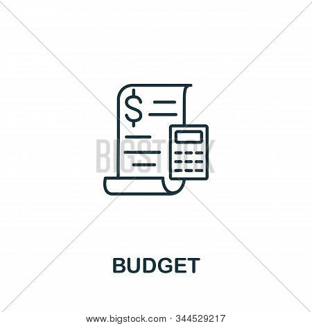 Budget Icon. Line Style Symbol From Shopping Icon Collection. Budget Creative Element For Logo, Info