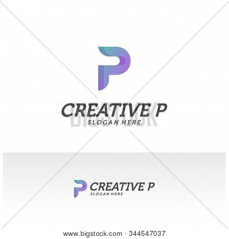 Abstract Letter P Logo Icon For Corporate Identity Design Isolated, Creative P Logo Design Template