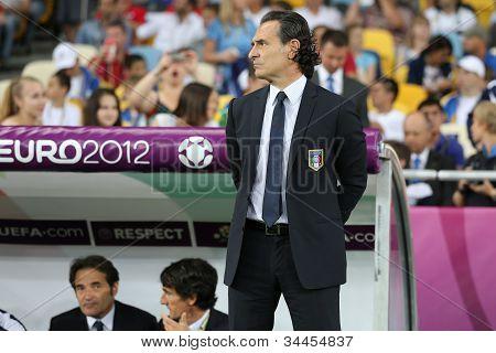 Italy National Football Team Head Coach Cesare Prandelli