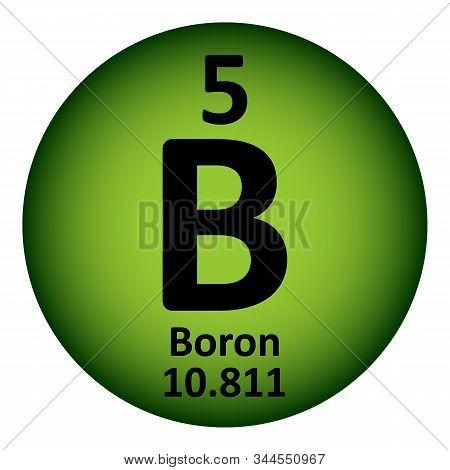 Periodic table element boron icon on white background. Vector illustration. poster