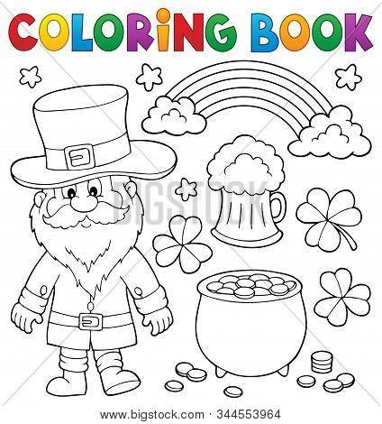 Coloring Book St Patricks Day Set 1 - Eps10 Vector Picure Illustration.