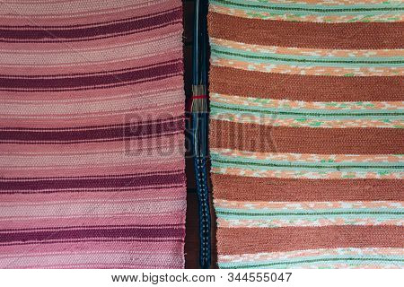 Patterns Of Small Traditional Rustic Rugs From Masuria Region Of Poland