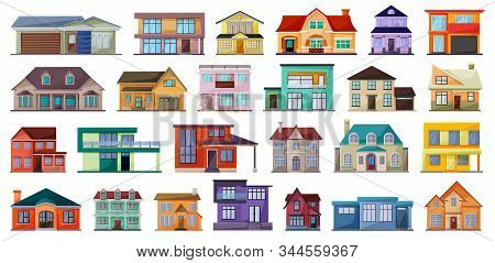 Villa Of House Vector Cartoon Set Icon.vector Illustration Building Of Home.isolated Cartoon Set Ico