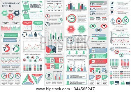Infographic Elements Data Visualization Vector Design Template. Can Be Used For Steps, Options, Busi