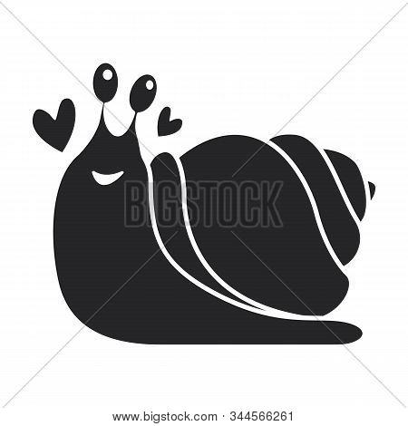 Animal Snail Vector Icon.black Vector Icon Isolated On White Background Animal Snail.